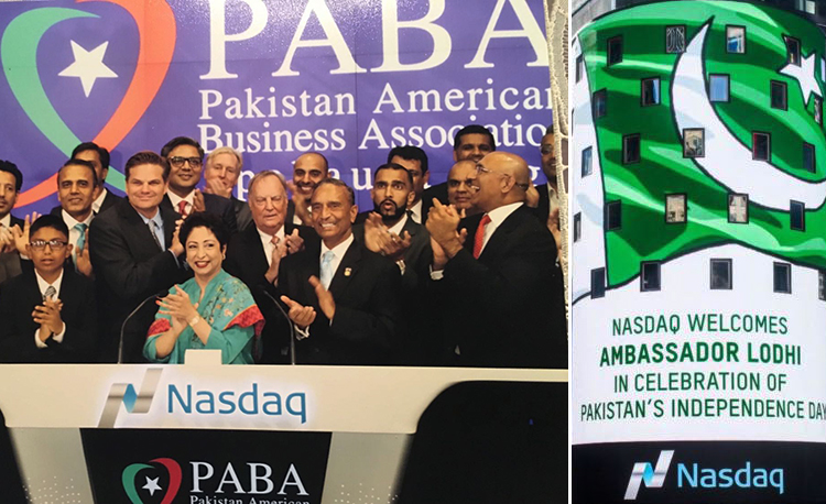 Pakistan's Independence Day celebrations at Nasdaq, New York - Nasdaq Celebrates Independence Day of Pakistan