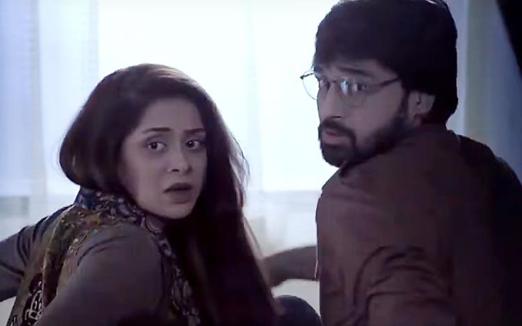 Azekah Daniel as Mehwish and Junaid Akhtar as Shehram