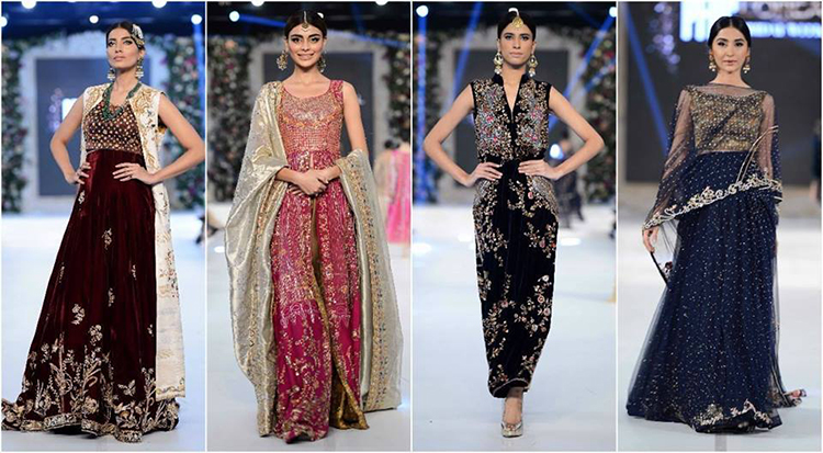Sania Maskatiya used a rich color palette with hues of maroon, bright pink and gold - PFDC L'Oreal Bridal Week 2015