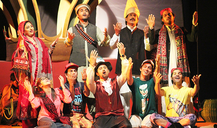 The play depicts the exploitation of the common man by the ruling elite - Play 'Kaun Bane Ga Badsha' by Ajoka Theatre