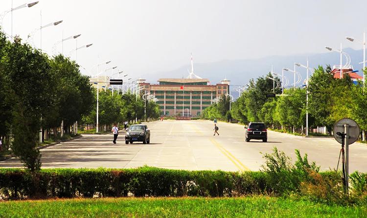 Alashankou railway station - Powerful Forces Drive Xinjiang Port Economy, China