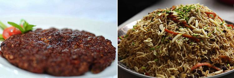 Peshawari Chappal Kabab abd Kabuli Pulao - Qabail Tribes: Pashtun Food in Galib Road, Gulberg, Lahore