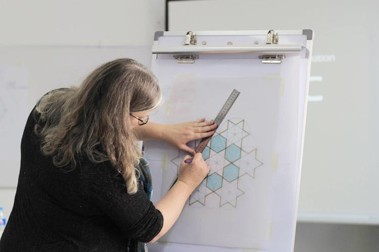 Dr. Lisa conducted a session on geometric designs on the first day