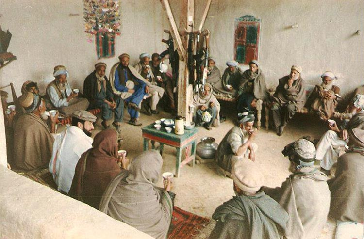 A typical Hujra (meeting room) - Restoring Linguistic Heritage of Pakistan