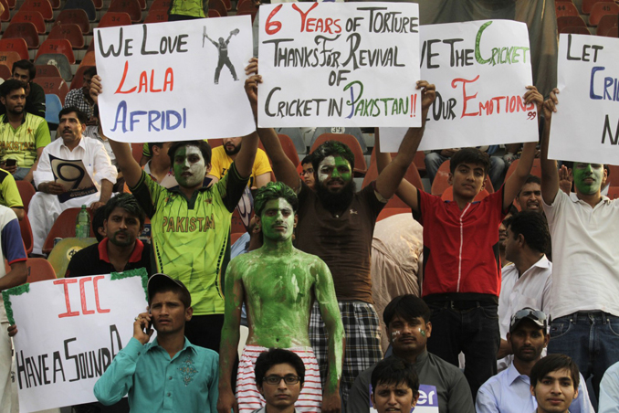 The exuberance of the Gaddafi crowd was at an all-time high - Revival of International Cricket in Pakistan
