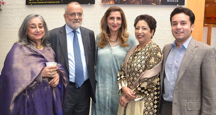 LLF organizing committee (L-R): Nusrat Jamil, Ahmed Rashid, Anila Salman Shah, Dr Maleeha Lodhi and Razi Ahmed (CEO and Founder of LLF) (photo: Javaria Inam) - Rise of LLF Lahore Literary Festival