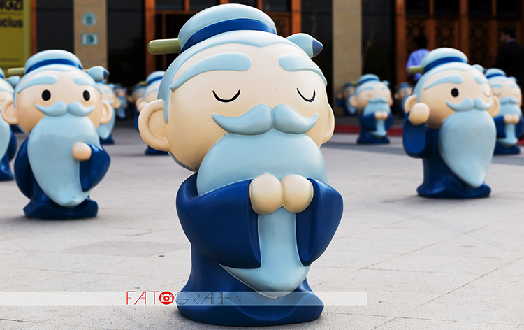 Animated Confucius statues on display - Salaam-Confucius Cultural Exhibition