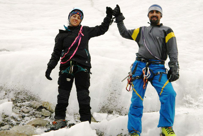 Samina and Mirza Ali Baig on their journey to Mount Everest - Samina Baig's journey to the top of Mount Everest