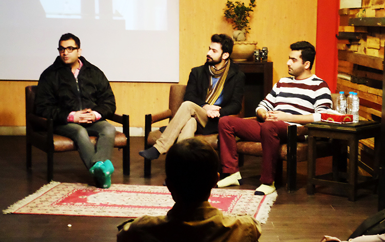 (l-r) Sarmad Khoosat, Umar Naru and Saim Sadiq - Short Film Letters of Mikael Muhammad