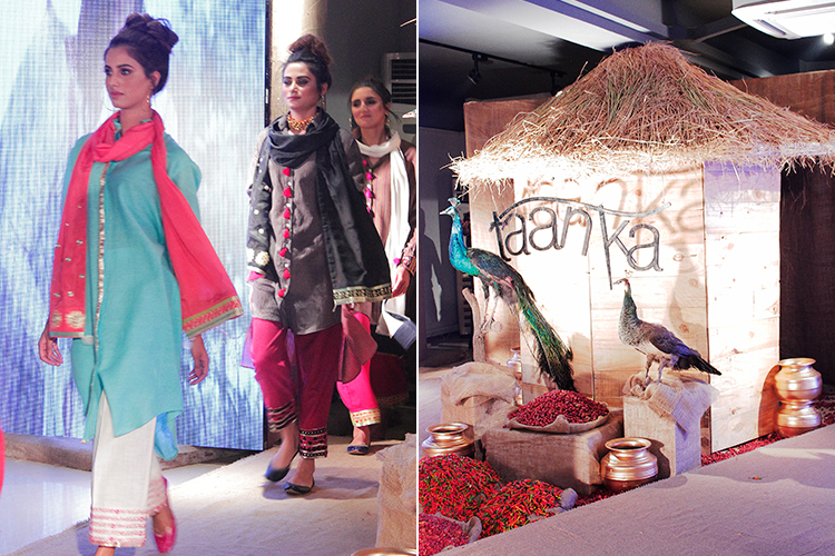 Models walk the ramp at the fashion show (photo: Syed Zargham Gilani) - Taanka at PFDC's Fashion Show