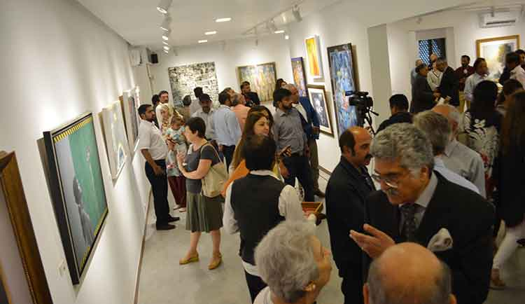 Visitors at the opening - Tanzara Gallery Celebrates 10-Year Anniversary