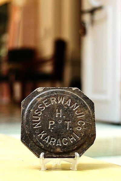 Nusserwanji's seal, the first Mayor of Karachi