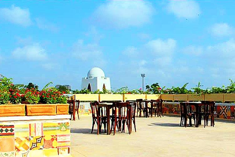 Rooftop cafe of TDF Ghar