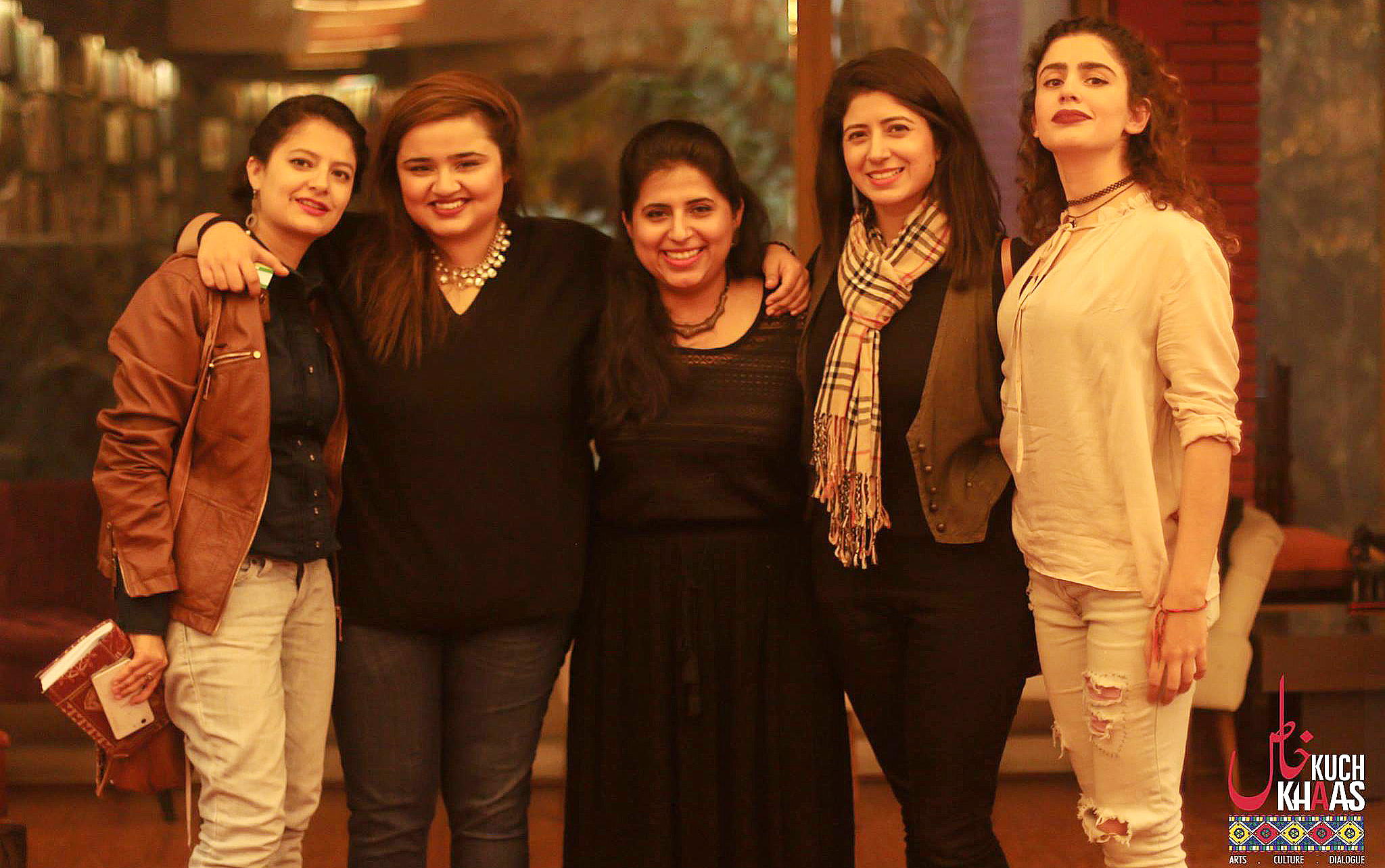 (L-R) The 'fabulous five': Annie, Faiza, Ayesha, Sana and Fatima - The Auratnaak Show in Islamabad