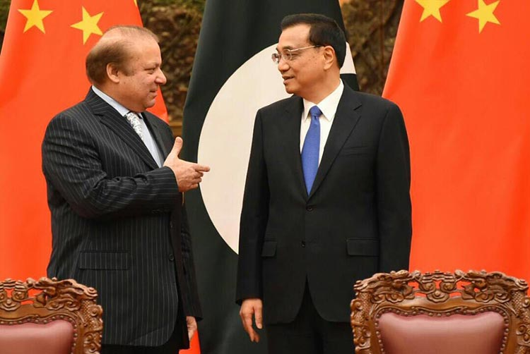 Prime Minister Nawaz Sharif with Chinese Prime Minister Li Keqiang - The Belt and Road Summit 2017 in Beijing