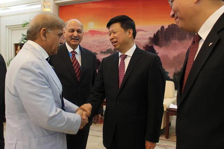 The Belt and Road Summit 2017 in Beijing - Chief Minister Shahbaz Sharif, Senator Mushahid Hussain Sayed and Song Tao, Minister for International Department of the Communist Party of China