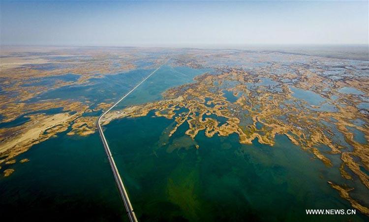 The Taitema Lake(Source: Xinhua) - The Restoration of Taitema Lake