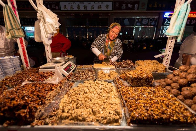 Walnut Cake being sold in Hotan
