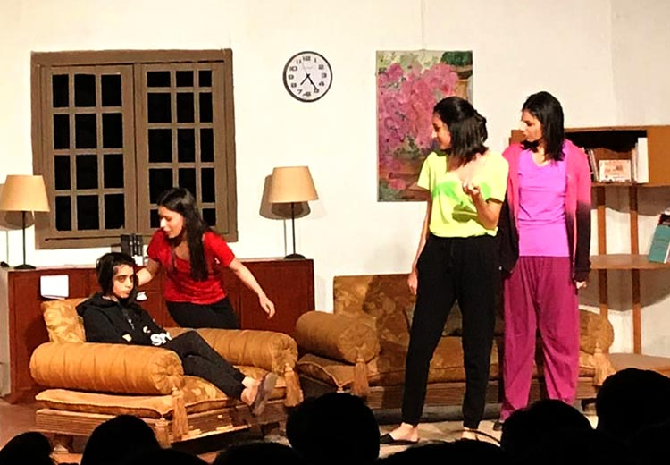 The cousins tell Shanzay to not exaggerate - Theatre MeToo by BlankPage Productions