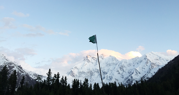 View of Nanga Parbat from our campsite in Fairy Meadows - Travel to Fairy Meadows