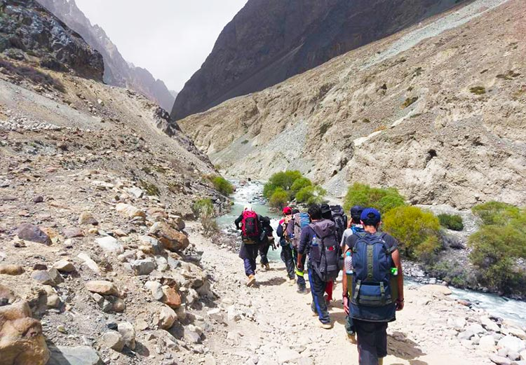 Trekking to Kilik Pass hosted by LUMS Adventure Society, on the Ancient Route between Pakistan and China