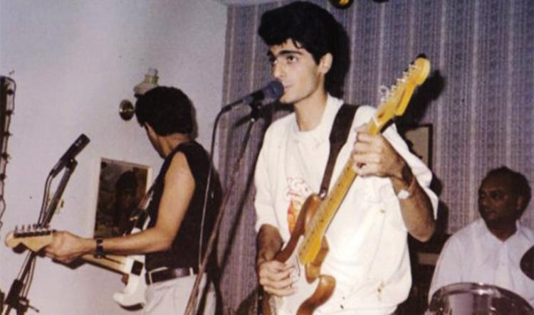 Aamir Zaki playing with a band during his youth - Tribute to Aamir Zaki, Guitarist and Singer