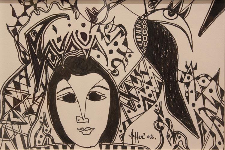 """瓦哈布•贾费尔展在伊斯兰堡坦扎拉画廊开展"""""""