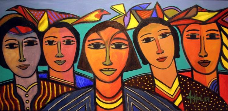 瓦哈布•贾费尔展在伊斯兰堡坦扎拉画廊开展