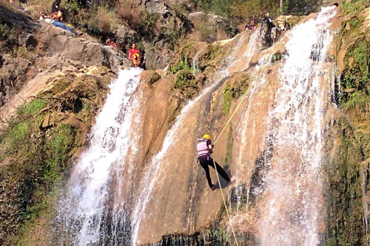 Rappelling on Sajikot Waterfall