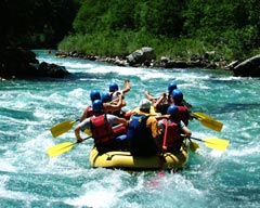 Water Adventure in Pakistan: Rappelling and Rafting