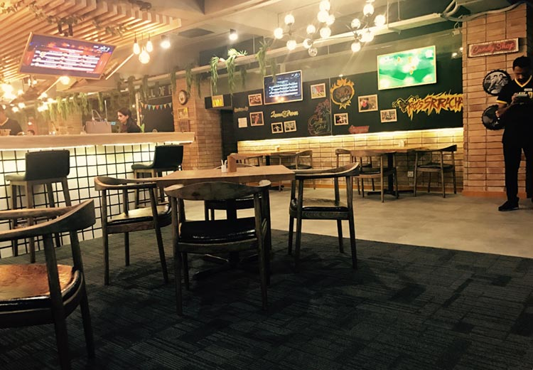 Interior of the Wild Wings Restaurant, Islamabad