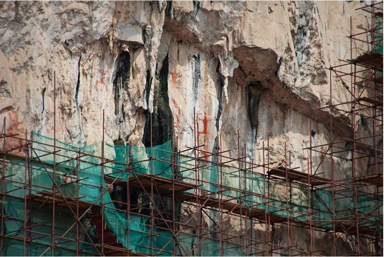 Efforts to preserve the rock paintings