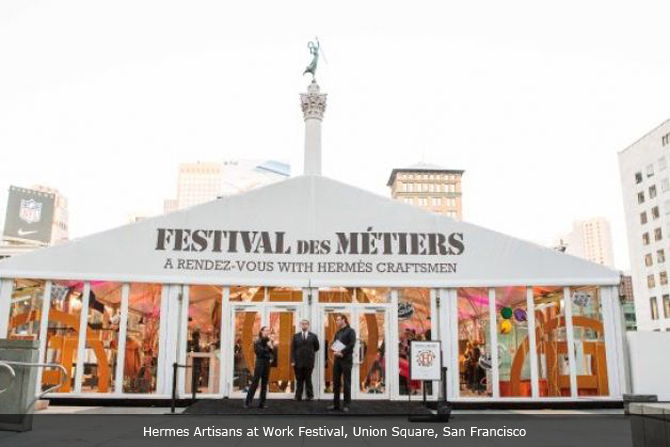 HERMES' FESTIVAL OF ARTISANS AT WORK HELD AT UNION SQUARE, SAN FRANCISCO, USA SEPT 20 TO 24, 2012