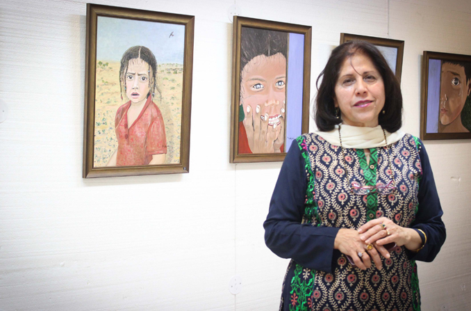 Exhibition of Najmi Mansoor Paintings at Nomad Gallery Islamabad