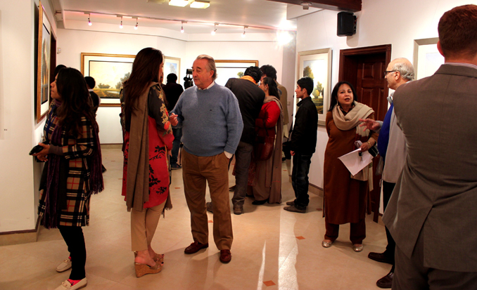 Painting Exhibition by Zulfiqar Ali Zulfi at Tanzara Gallery