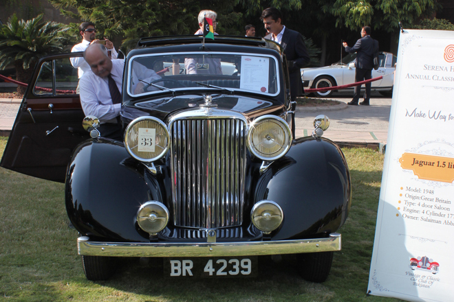 The 1948 Jaguar 1.5, owned by the Nawab of Bahawalpur