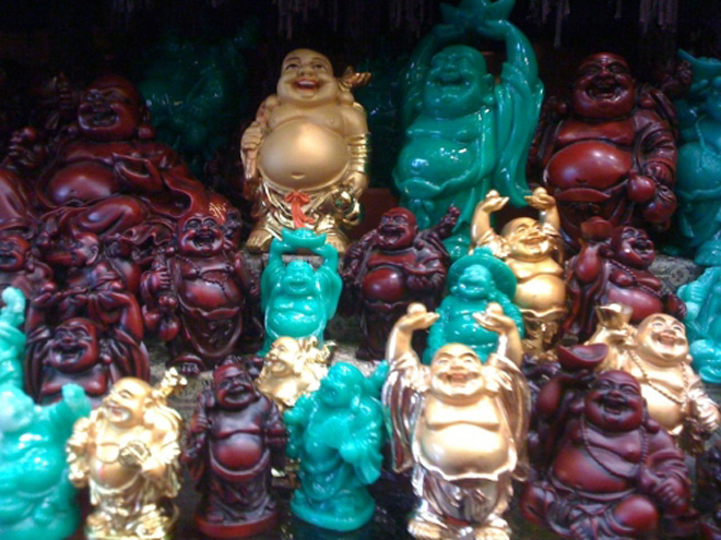 Laughing Buddhas for sale - all colours, all sizes!