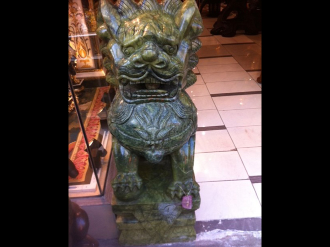 Huge jade carved lion