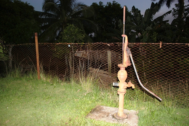 An old style water pump at the farm