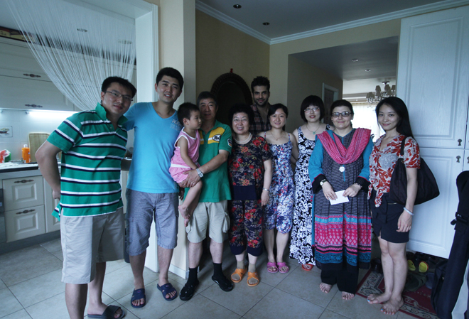 Saadia Haseeb (The Producer) and Adnan Malik (The Host) visiting a Chinese family in Beijing