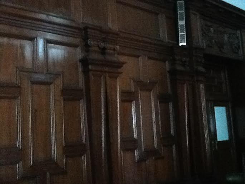 The wood panelled room, host to many a party