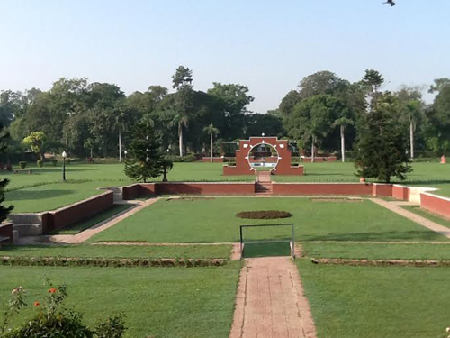 The manicured Fatima Jinnah Park