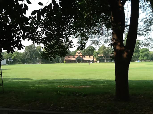 The Gymkhana cricket pavilion