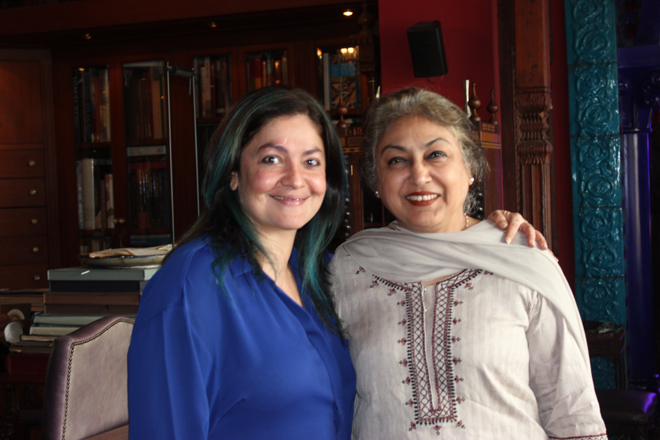 Pooja Bhatt and Nazli Javed Husain