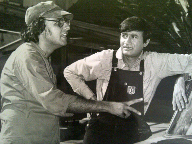 Mahesh Bhatt with Dev Anand