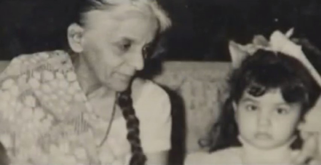 Pooja with Shireen Mohammad Ali, her grandmother