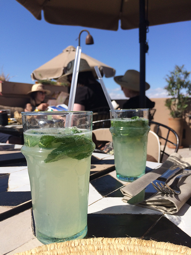 Mint lemonade at Nomad cafe