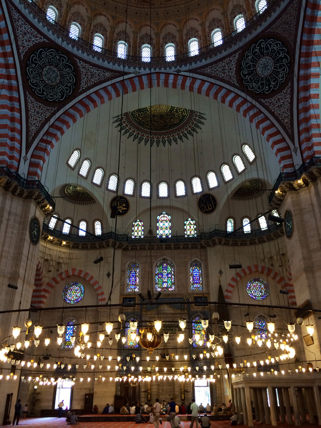 Interior of the Suleymaniye Mosque