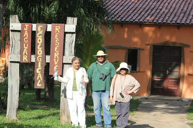 At the Jaguar Ecological Reserve with Tito