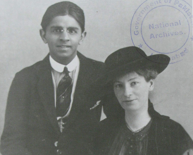 Quaid's brother, Ahmed Ali Jinnah and wife